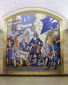 Admiralteyskaya hotel ligger i sankt petersburgs tunnelbana — Stockfoto
