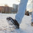 Boots in Snow — Stock Photo