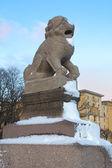 Leone cinese imperiale di san pietroburgo, russia — Foto Stock