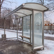 Empty Bus Stop — Stock Photo