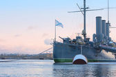 Cruiser Aurora, Warship museum. St. Petersburg, Russia — Stock Photo