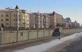 City frozen channel Bulak in Kazan, Tatarstan, Russia — Stockfoto