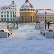 Modern Peterburgskaya street in the center of Kazan, Russia — Stock Photo