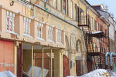 Old abandoned house in the center of Kazan, Russia — Stock Photo