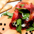 Bresaola rolls — Stock Photo