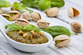 Pistachio pesto — Stock Photo
