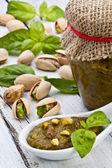 Pistachio pesto — Stock Photo