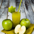Stock Photo: Green apple juice