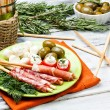Stock Photo: Delicatessen appetizers