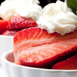 Strawberry and cream — Stock Photo