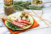 Delicatessen appetizers — Stock Photo