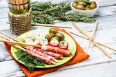 Delicatessen appetizers — Stock Photo