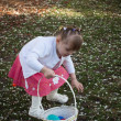 Royalty-Free Stock Photo: Toddler on Easter Egg Hunt