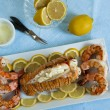 Seafood Dinner — Stock Photo