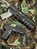 Handgun and HAVOC Launcher — Stock Photo