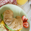 Croissant Breakfast Sandwich — Stock Photo #10622809