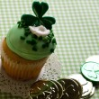 St. Patrick's Day Cupcake — Stock Photo
