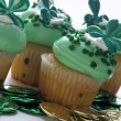Stock Photo: St. Patrick's Day Cupcake