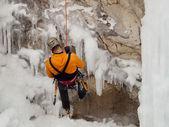 Ice Climbing — Stock Photo
