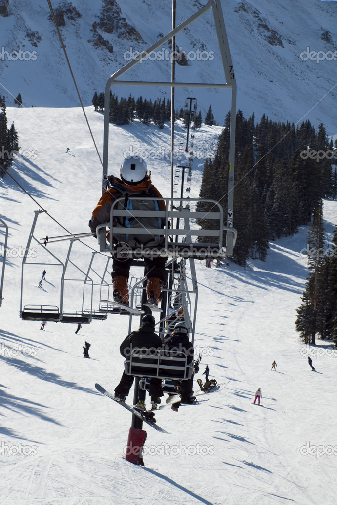 Skiing at Loveland Basin, Colorado. — Stock Photo #9584212