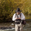 Fly Fisherman - Foto Stock