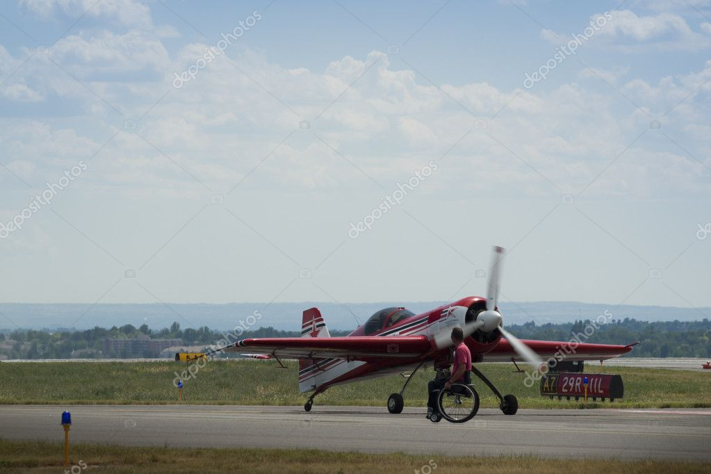 Vintage airplane at the Rocky Mountain Airshow in Broomfield, Colorado. — Stock Photo #9590315