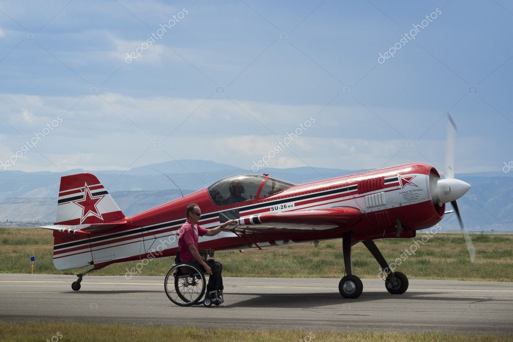 Vintage airplane at the Rocky Mountain Airshow in Broomfield, Colorado. — Stock Photo #9590368