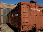 Wooden Boxcar — Stock Photo