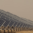 Stock Photo: Solar Panels in a Power Plant