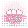 Vector abstract love heart Pattern with space for text or image — Stock Vector #8617463