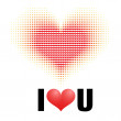 Royalty-Free Stock Imagen vectorial: Drew heart. Abstract love concept illustration.