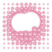 Vector abstract love heart Pattern with space for text or image — Stock Vector