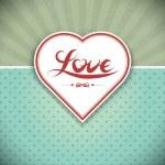 Grunge heart frame. Gift card. Valentine — Stock Vector #8716349