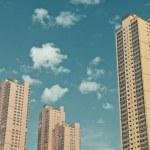 Facade of a modern Skyscraper building — Stock Photo
