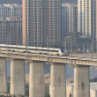 Supertrain  on Concrete Bridge,at The southeast coast of China — Stock Photo