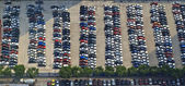 Cars in the parking lot in China — Stock Photo