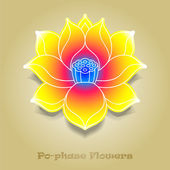 Chinese virtual po-phase flowers: lotus,Paeonia suffruticosa, ch — Stock Vector