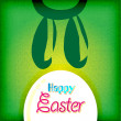 Happy easter greeting card ,  bunny eggs — Imagen vectorial