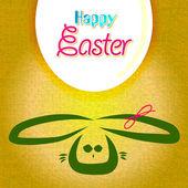 Happy πάσχα ευχετήρια κάρτα, λαγουδάκι αυγά — Διανυσματικό Αρχείο