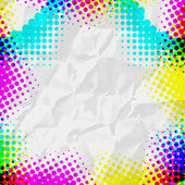 Abstract Grunge colorful Halftone vector illustration pattern ba — Stock Vector