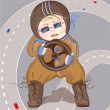 Royalty-Free Stock Imagen vectorial: Little Driver Boy