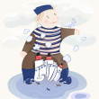 Little Sailor Boy - Stock Vector