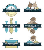 Business concept icons, symbols set — Stock Vector