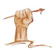 Artist's fist — Stock Vector