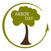 Arbor Day Icon — Stock Vector