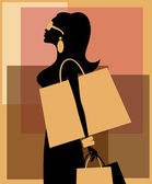 Woman Shopping — Stockvector