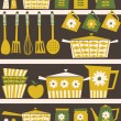 Retro Kitchen Background — Stock Vector