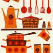 Stock Vector: Retro Kitchen