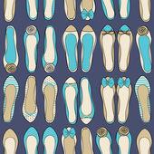 Ballerina Shoes Background — Stock Vector