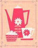Retro Coffee Card — Stock Vector